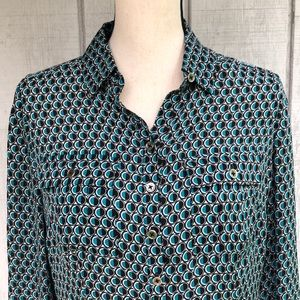 White House Black Market Silk Shirt